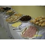 buffet para inauguração