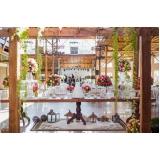 buffets para casamento com decoração Várzea Paulista
