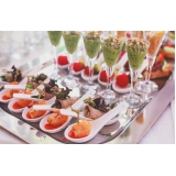 cotação para buffet para casamento de finger food Paulínia